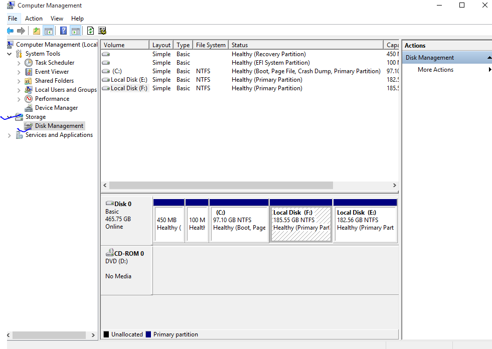 how to re partition hard drive windows 10