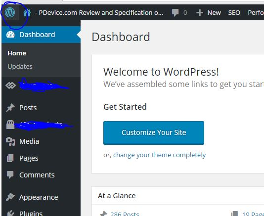 Remove Logo and About WordPress from Dashboard of