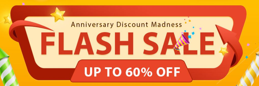 2018 4th Anniversary Big FLASH SALE - Up to 60% Off on Gadgets
